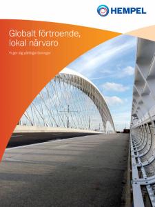 Swedish translation of corporate brochure
